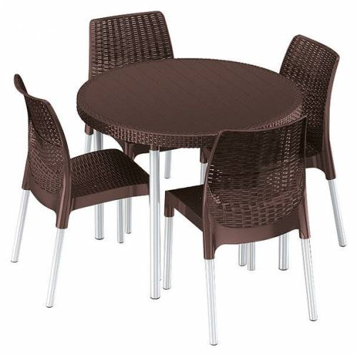 Комплект садових меблів Jersey set, коричневий