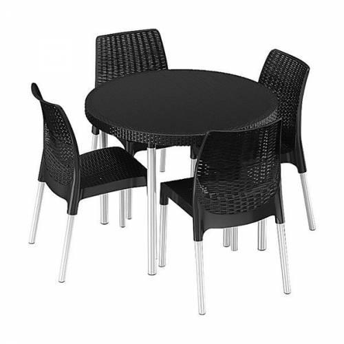 Комплект садових меблів Jersey set, сірий