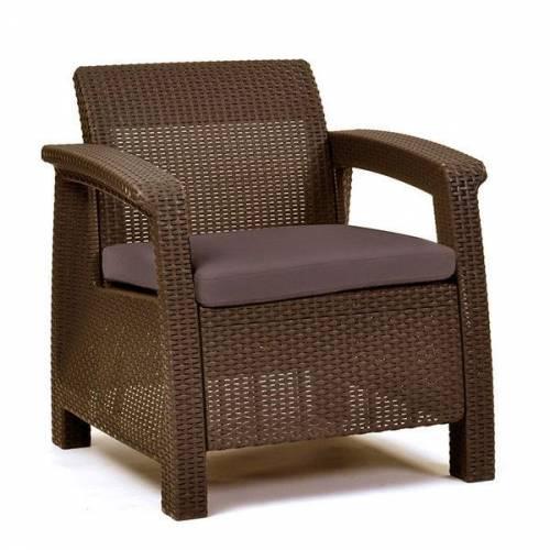 Крісло пластикове Corfu Duo, коричневе