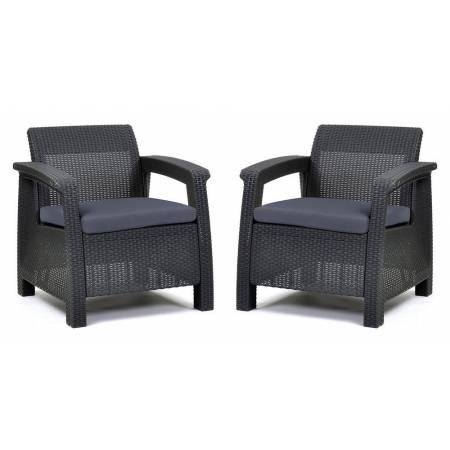 Комплект крісел пластикових Corfu Duo, сірий