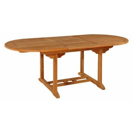 Тиковий стіл розкладний овальний TE-150T