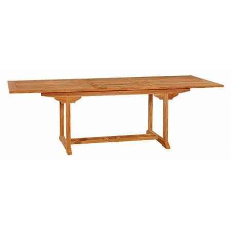 Тиковий стіл розкладний прямокутний TE-180T