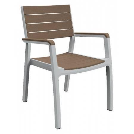 Стілець пластиковий Harmony armchair, біло-бежевий