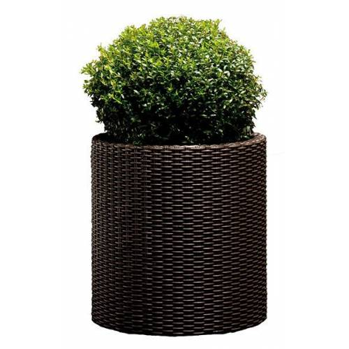 Горшок для цветов 39 л. Cylinder Planter Large, коричневый