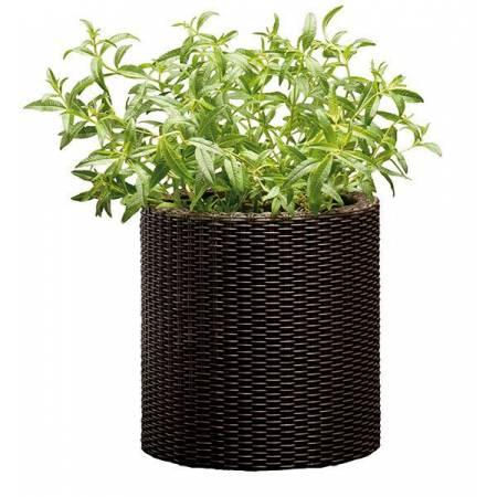 Горщик для квітів Cylinder 7 л. Planter Small, коричневий