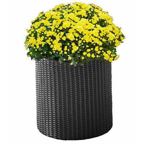 Горщик для квітів Cylinder Planter Medium 18 л. сірий