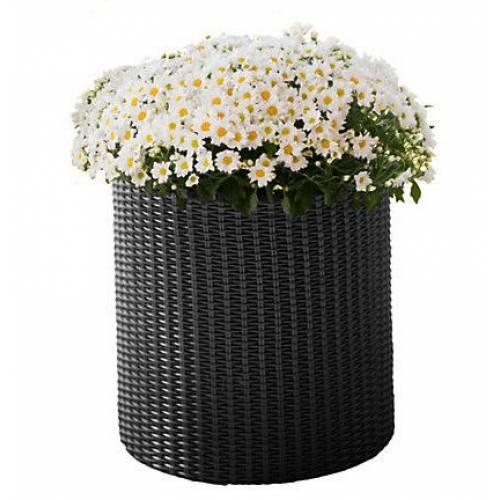 Горщик для квітів 7 л. Cylinder Planter Small, сірий