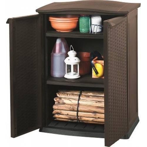 Ящик для зберігання Keter Rattan Style Base Shed Compact Garden 230 л, коричневий