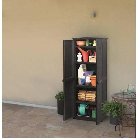 Ящик для зберігання Keter RATTAN STYLE TALL SHED Compact Garden 430 л