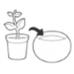 Набір горщиків для квітів, 3 шт., Cozies Herb Pot