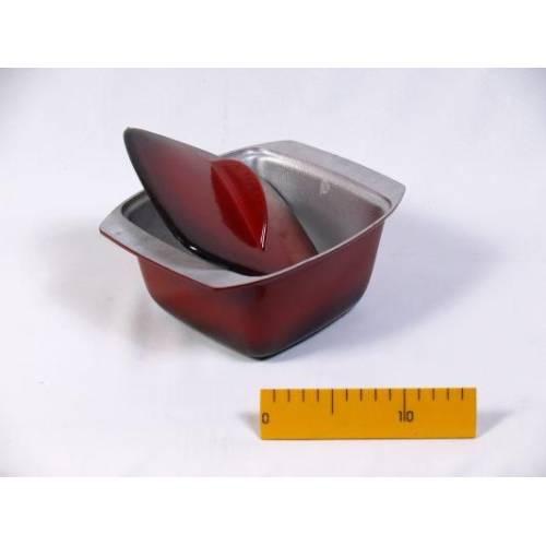Гуляшниця ЭГ1,5 з кришкою, з зовнішнім склоемалевим покриттям, 1,5-л
