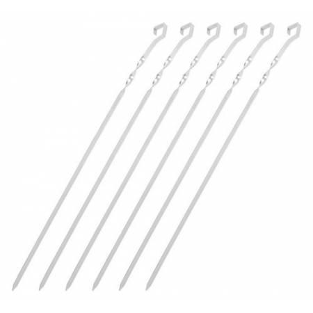 Комплект шампуров нерж.сталь, 6 шт в чехле, JR009