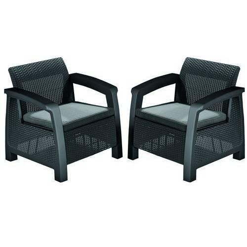 Крісло, Bahamas Duo, графіт - прохолодний сірий