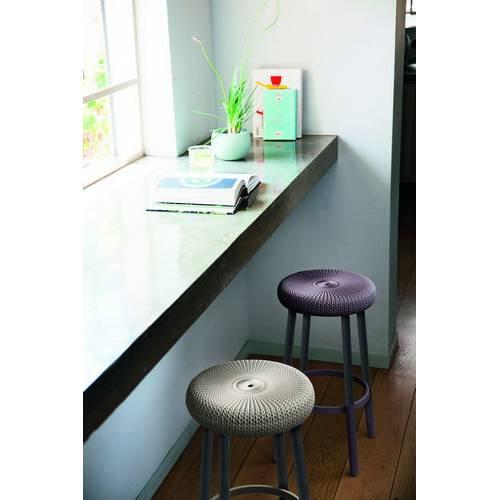 Стілець пластиковий COZY BAR STOOL, димчасто-пурпурний