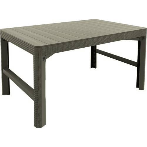 Стіл пластиковий, Lyon rattan table, беж