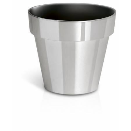 Горшок для растений Cube серебристо-хромированный, 1,2 л