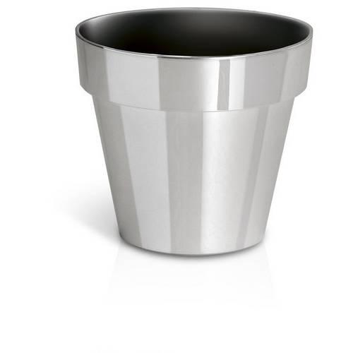 Горщик для рослин Cube сріблясто-хромований, 1,2 л