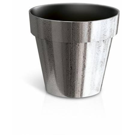 Горшок для растений Cube хромированный, 1,2 л