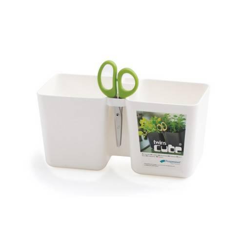 Горщик для рослин TWINCE CUBE - білий, 2,5 л