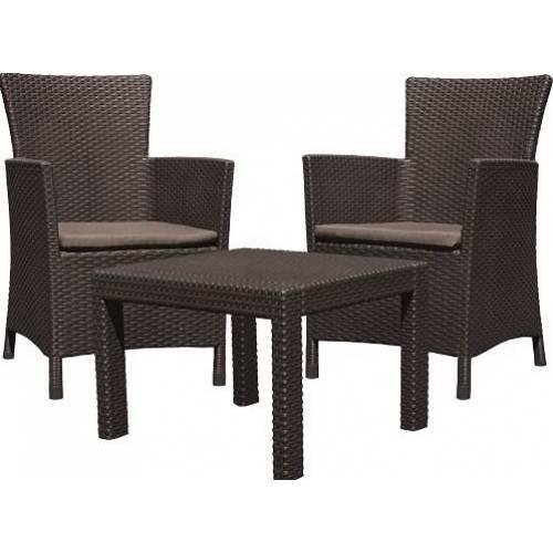 Набір меблів, Rosario balcony set, коричневий