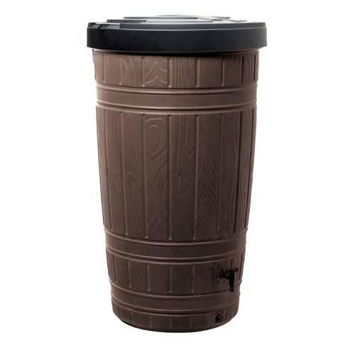 Ємність для збору дощової води Woodcan, 265 л, коричнева