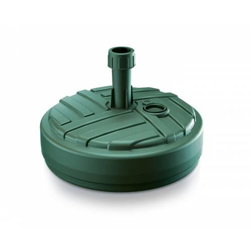 Підставка для садової парасолі кругла, 10 л, зелена