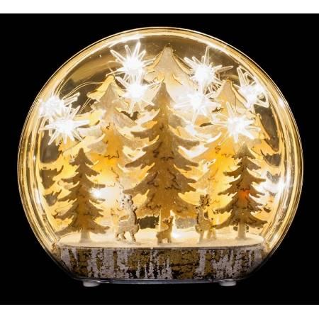 """Прикраса декоративна настільна, 22 см, """"Зимова сцена, дерева"""", """"Luca Lighting"""""""